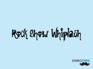 Font Rock Show Whiplash